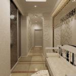 узкий коридор в классическом стиле