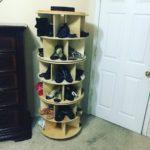 Вертикальная круглая обувница