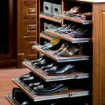 обувница с выдвижными дверцами