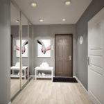 серый ламинат для коридора