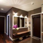 освещение в коридоре стиля минимализм