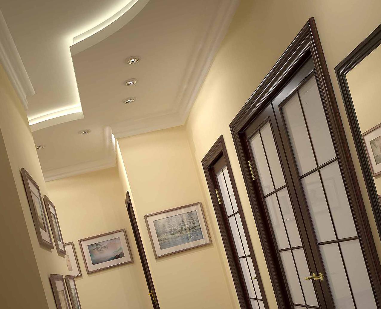 подвесной потолок с светодиодной лентой