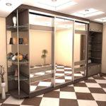 шкаф-купе с зеркалами